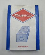 Vintage Gussco 5x8 1/3 Cut Blank Guides Box of 100 Office Art Supplies Media