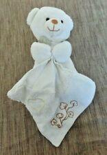 B2D / doudou ours blanc bio mouchoir coeur DOUDOU ET COMPAGNIE