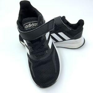 Black Boys/ Girls Adidas Trainers Size 11K School PE Great Condition Free P&P
