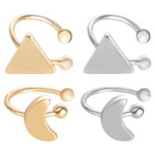 Star Moon Ear Cuff Wrap Clip Cartilage clip-on Earring Non Piercing Jewelry