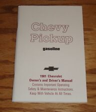 1981 Chevrolet Pickup Gasoline Owners Operators Manual 81 Chevy