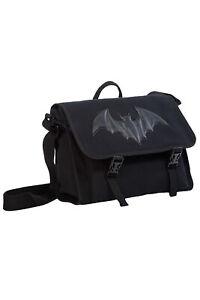 Black Gothic Rockabilly Punk Bat Dragon Frenzy Messenger Bag BANNED Apparel
