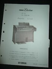 Yamaha Electone D-3 D-3IR.SR Part List Catalog Manual D3 D3IRSR 1975 Parts