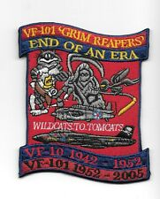 """F-14 Tomcat VF-101 Grim Reapers """"End Of An Era""""  patch"""