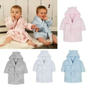 Personalised Baby Dressing Gown Hooded Robe 18-24 Months Special Offer