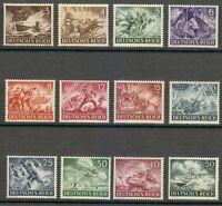 Germany 1943 MNH Mi 831-842 Sc B218-B229 Army Day & Hero Memorial Day. WW2 **