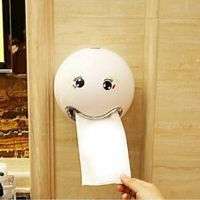 Creative Toilet Paper Towel Holder Plastic Emoticon Roll Tissue Storage Bathroom