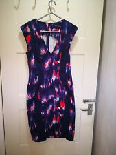 Womans Dress French Connection Size 10 Bodycon Smart Casual Formal Blue mix