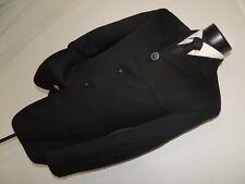 Istante by Gianni Versace men's Black 4 button suit jacket pant 36 R