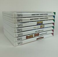 Nintendo Wii Games Bundle X9 Donky Kong, Mario, Sonic, Toy Story, Just Dance +