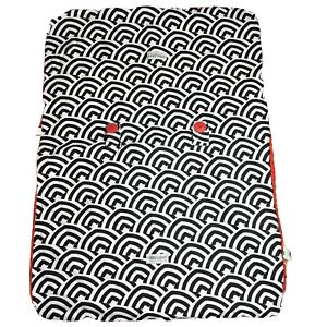 Carseat Canopy Two Sided Black White/ Red Baby Carseat Cover
