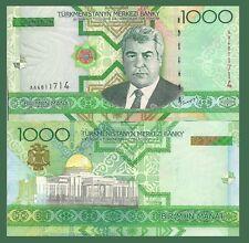 Turkmenistan P20, 1000 Manat, Niyazov / Turkmenbashi's Palace, Aşğabat UNC $7+CV