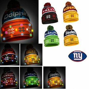 NFL Wordmark Light-Up Beanie by Forever Collectibles 499844-J