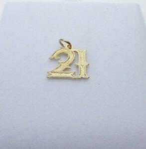 9ct Gold Charm 21st Birthday Dangle Traditional Gift Box