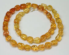 Imperial Topaz Tumbled Freeform Nugget  Beads 20.5 inch strand