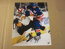 Aaron Voros Autographed Signed 8X10 Photo NHL Hockey New York Rangers