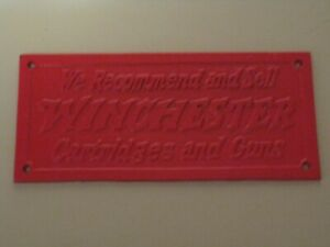 CAST IRON WINCHESTER ADVERTISING SIGN - REPRODUCTION -
