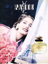PUBLICITE ADVERTISING 045  1993  YVES SAINT LAURENT parfum femme PARIS