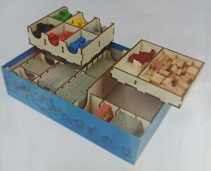 Carcassonne wooden box organiser multi tray insert for expansions and base game