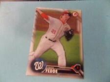 2016 Bowman Draft #BD159 Erick Fedde Washington Nationals Syracuse Chiefs