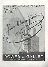 ▬► PUBLICITE ADVERTISING AD PARFUM PERFUME Roger Et Gallet Jean Marie Farina