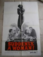 Vintage Movie Poster 1 sheet Suddenly A Woman 1967 Lailla Anderson