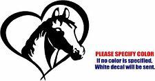 """Horse in Heart Decal Sticker JDM Funny Vinyl Car Window Bumper Truck Trailer 6"""""""