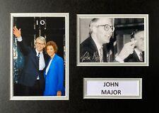 More details for john major hand signed a4 photo mount display uk prime minister autograph