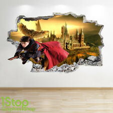 HARRY POTTER WALL STICKER 3D LOOK - BEDROOM KIDS HOGWARTS WALL DECAL Z587