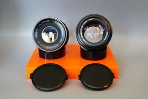 Lot of two Minolta 50mm F/1.4 MD Mount And Albinar 28mm F/2.8 Lenses