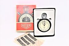 Vintage Heuer -Leonidas SA 7700 Stopwatch open face 53 mm With Box & Booklet