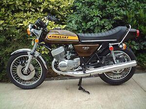 Kawasaki H2 750 Triple 1974 H2b Decal set  BROWN BIKE - The BEST!