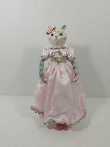 "Porcelain ballerina cat doll Figure 11"""
