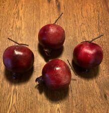 4 Plastic Pomegranates Food Fruit Crafts Decor