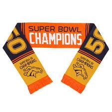 "Denver Broncos Football Super Bowl 50 Champions Logo NFL 60"" Acrylic Woven Scarf"