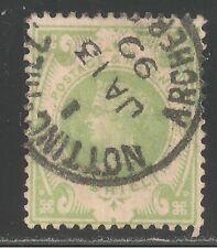 Great Britain #122 (Sg #211) Vf Used - 1887-92 1sh Victoria - Scv $72.50