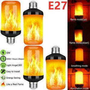 2Tlg LED Licht Fackel E27 Feuer Lampe Flammen Effekt Glühbirne Flacker Birne DE