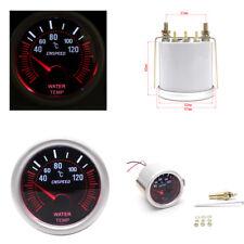 52mm Car Smoke Len LED Water Temp Temperature Gauge LED Indicator Pointer Meter