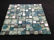 Beautiful High Quality Glass Mosaic Wall Tiles-Kitchen/Bathroom #J05