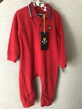 Lyle And Scott Baby Knitted Romper Body Suit Polo  6-9 Months Designer Gift