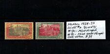 Monaco 1924-33 Mnh Mlh stamps F/Vf Scott#s 90(Mlh) and 91(Mnh)