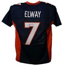 John Elway Autographed/Signed Denver Broncos  Size XL Blue Jersey BAS 22889