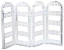 Clear Acrylic Earring Screen Tower Display Stand – Collapsible Crystal Panels