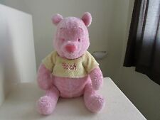 "HUGE Disney Store Winnie The Pooh SUGAR SWEET POOH PINK 20"" Plush Stuffed Animal"