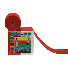 CanDo Cando exercise band, red, 50 yard dispenser, latex-free 1359708 NEW