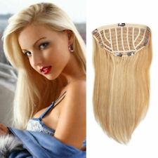 120g-200g 100% Human Hair Silk Straight Clip In Half Wig Thicken Hair Weft Cap