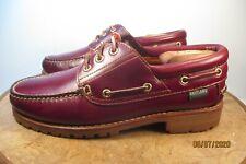 EASTLAND Classic 3 eyelet  Boat Shoes Burgundy Leather