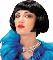 Morris Costumes Women's New Short Flapper Polyester Wig Black One Size. MR179013