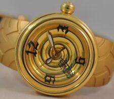 Von Dutch 44mm Yellow Gold-tone 'Metallic Spiral' Swiss Made Watch $765.00 Tag