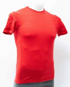 Rapha Short Sleeve Classic T Men XS Red Merino Wool Cycling Casual Lifestyle
